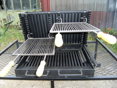 barbecue-vertical-gril-reglable
